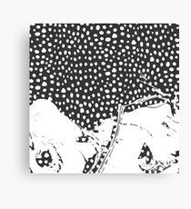 Modern Artistic Abstract Snow Scene Canvas Print