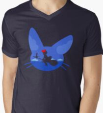 Kiki and Jiji's Flight Men's V-Neck T-Shirt