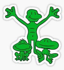 3 frog friends team, family, children papa mama love happy siblings twins Sticker