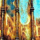 beautiful rusty metal by sledgehammer