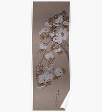 Hirose Kain - Cherry Blossoms . Japanese Still Life  Poster