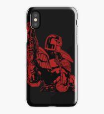 Red Dredd iPhone Case/Skin