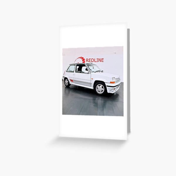 Renault 5 GT Turbo Phase 2 Side View Greeting Card