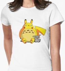 Totorotchu and Pikaro Womens Fitted T-Shirt