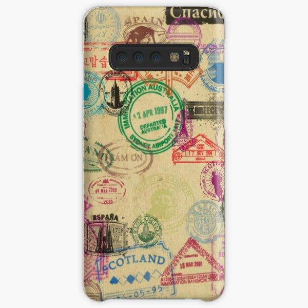 Vintage Passport Stamps Samsung Galaxy Snap Case