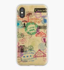 Vintage Passport Stamps iPhone Case