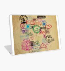 Vintage Passport Stamps Laptop Skin
