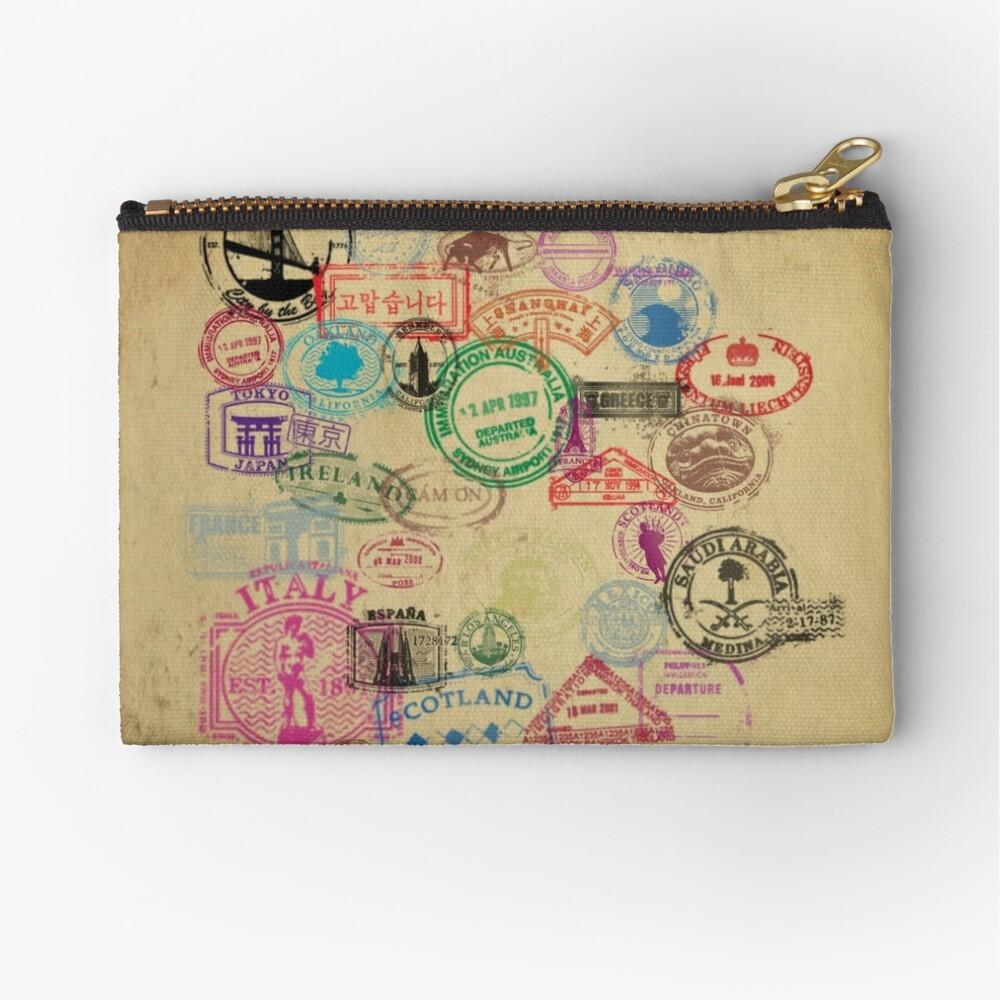 Vintage Passport Briefmarken Täschchen