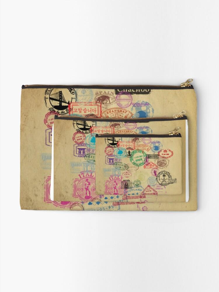 Alternative Ansicht von Vintage Passport Briefmarken Täschchen