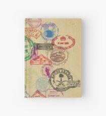 Vintage Passport Briefmarken Notizbuch