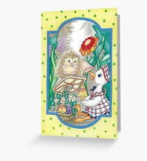 DUCK AND HEDGEHOG Greeting Card