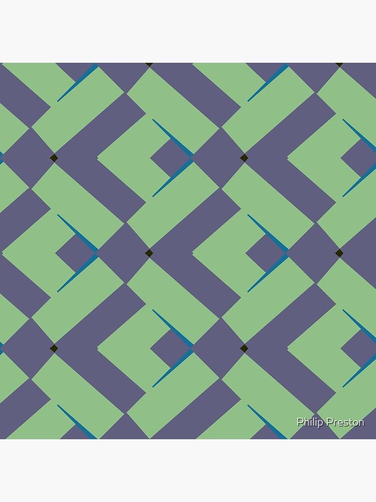 Modern Abstract Green Grey Pattern Design 991 by prestonphoto