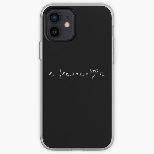 Einstein field equation of general relativity dark version iPhone Soft Case