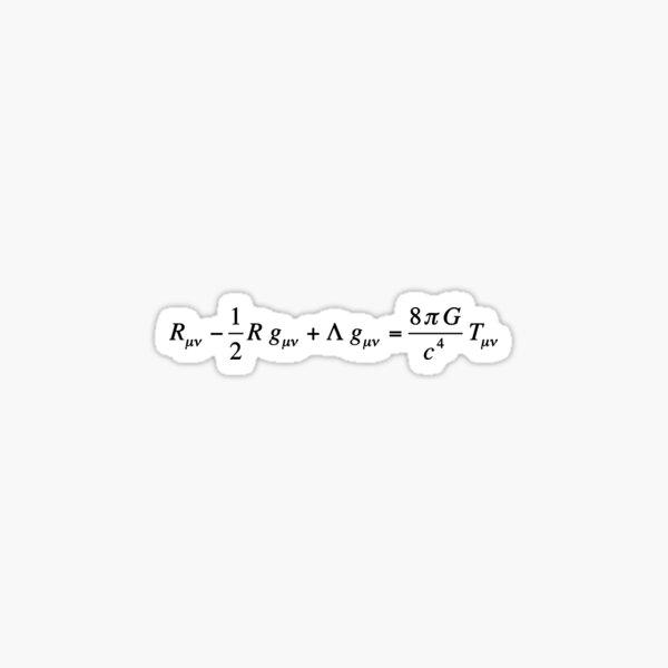 Einstein field equation of general relativity dark version Sticker