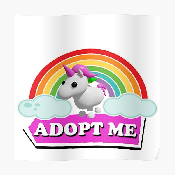Adopt Me Unicorn Posters Redbubble