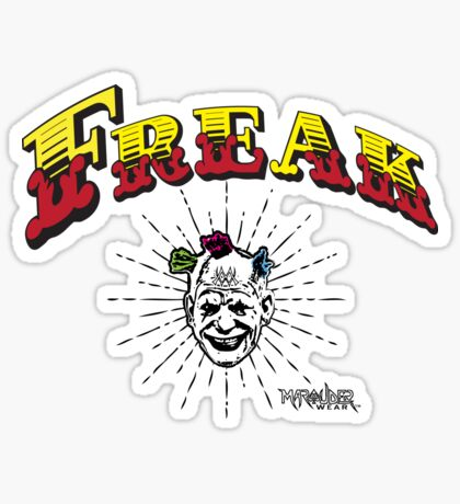 "Marauder Wear ""Freak"" Tee  Sticker"