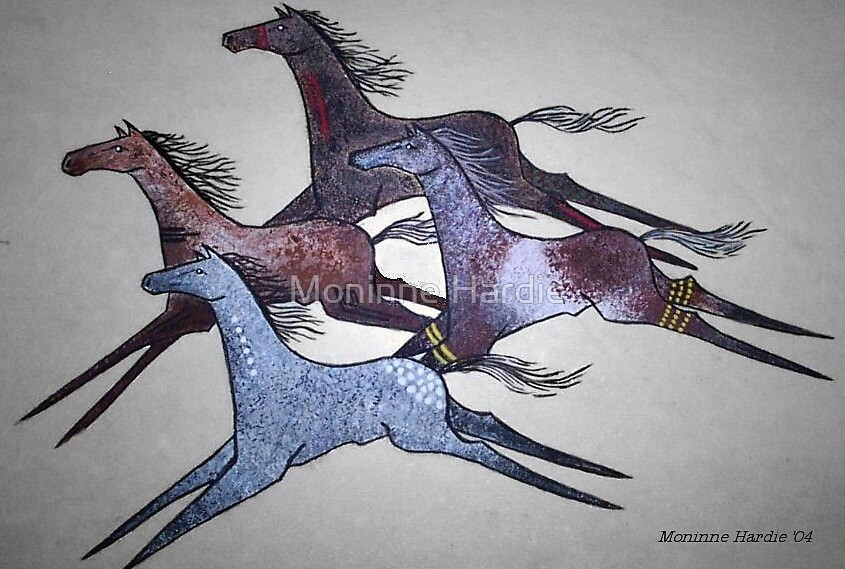 Spirit Horses by Moninne Hardie