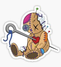 Wounded voodoo doll Sticker