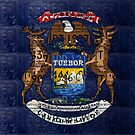 License Plate Flag of the State of Michigan by designturnpike