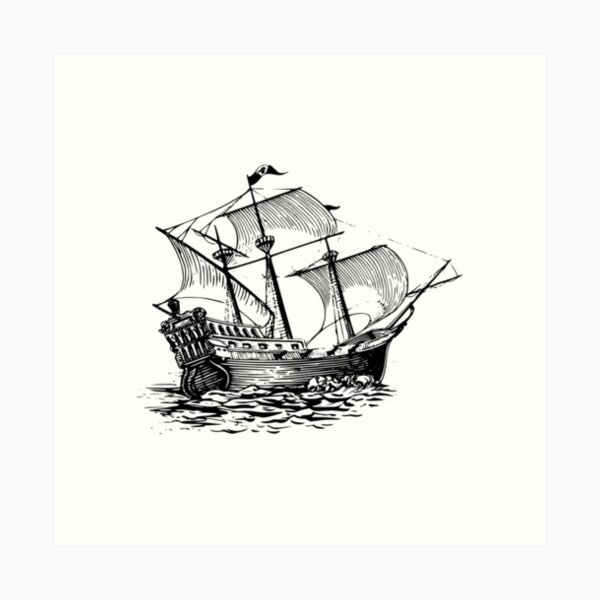Galleon Ship Art Print