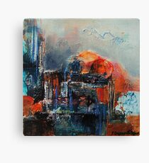 Sacre, featured in Painters Universe, AbstractSurrealArt Canvas Print