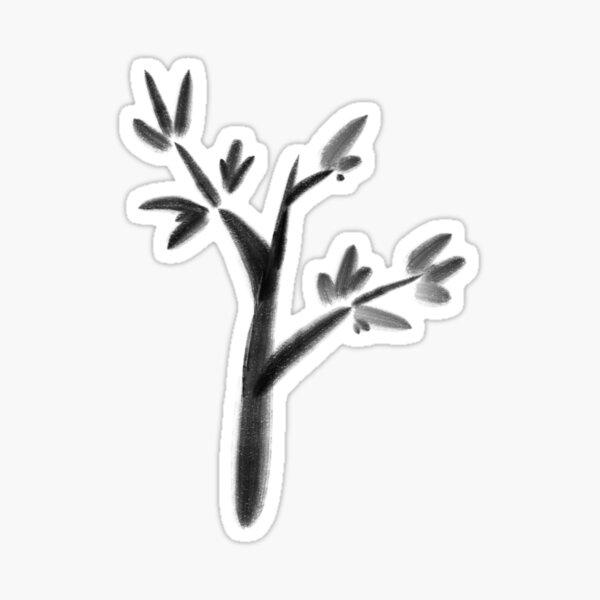 Zen shrub Sticker