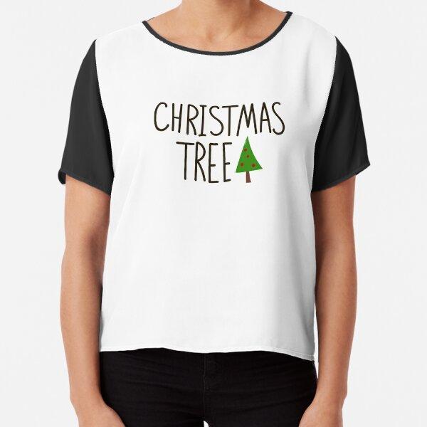 Christmas tree Chiffon Top