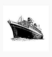 Ocean Liner Photographic Print
