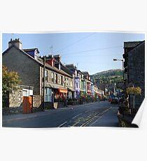 Ambleside street  Lake District Poster