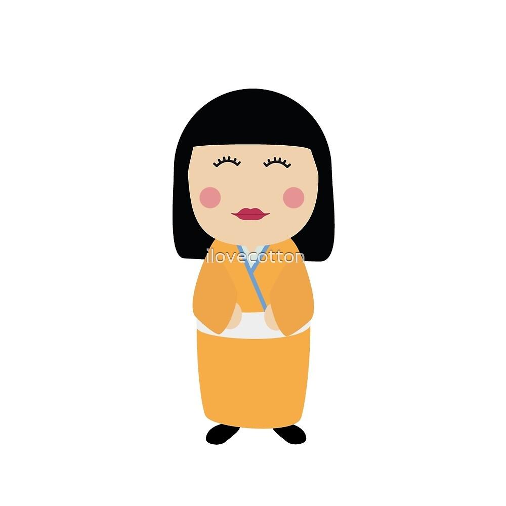 kokeshi doll by ilovecotton