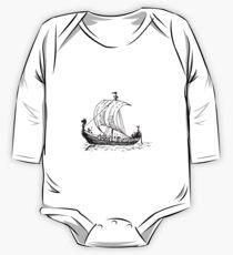 Wikingerschiff Baby Body Langarm