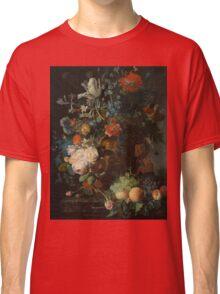 Jan van Huysum - Still Life with Flowers and Fruit  , Fashion , Love , Kiss  Classic T-Shirt