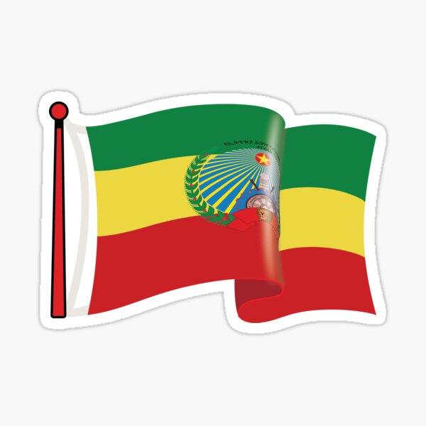 EPDR (Derg) flag waving  Sticker