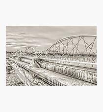 Tempe Town Lake Pedestrian Bridge Photographic Print