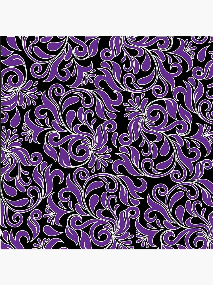 Purple And White Damask de XanderOne