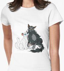 Zerbrochene Familie Tailliertes T-Shirt für Frauen