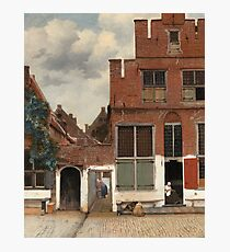 Johannes Vermeer - The Little Street Around 1658 Photographic Print