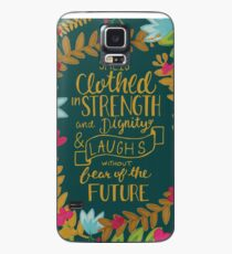 She Is Clothed In Strength And Dignity And Laughs Without Fear Of The Future, Floral Case/Skin for Samsung Galaxy