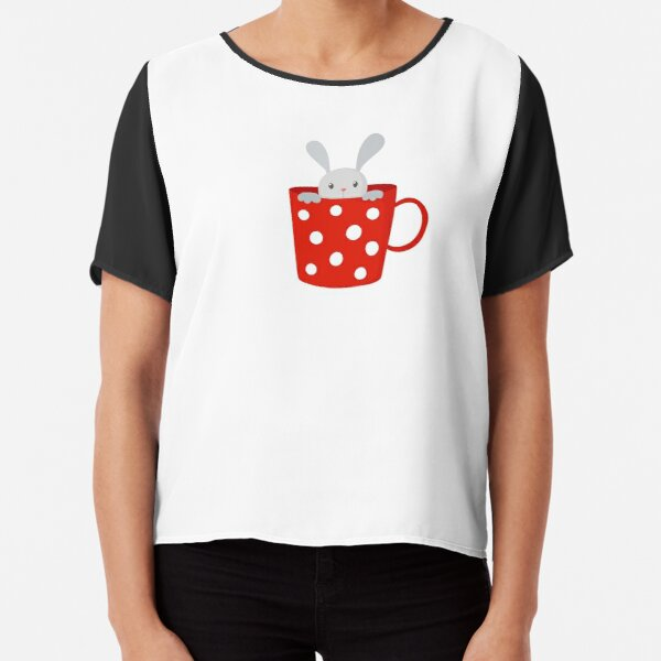 Bunny in cup Chiffon Top