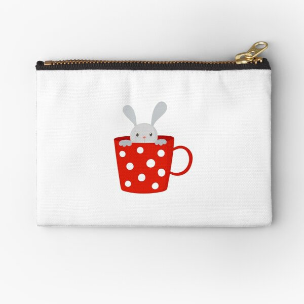 Bunny in cup Zipper Pouch