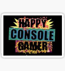 Happy Console Gamer Sticker