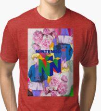 Nintendo Aesthetic Design Tri-blend T-Shirt