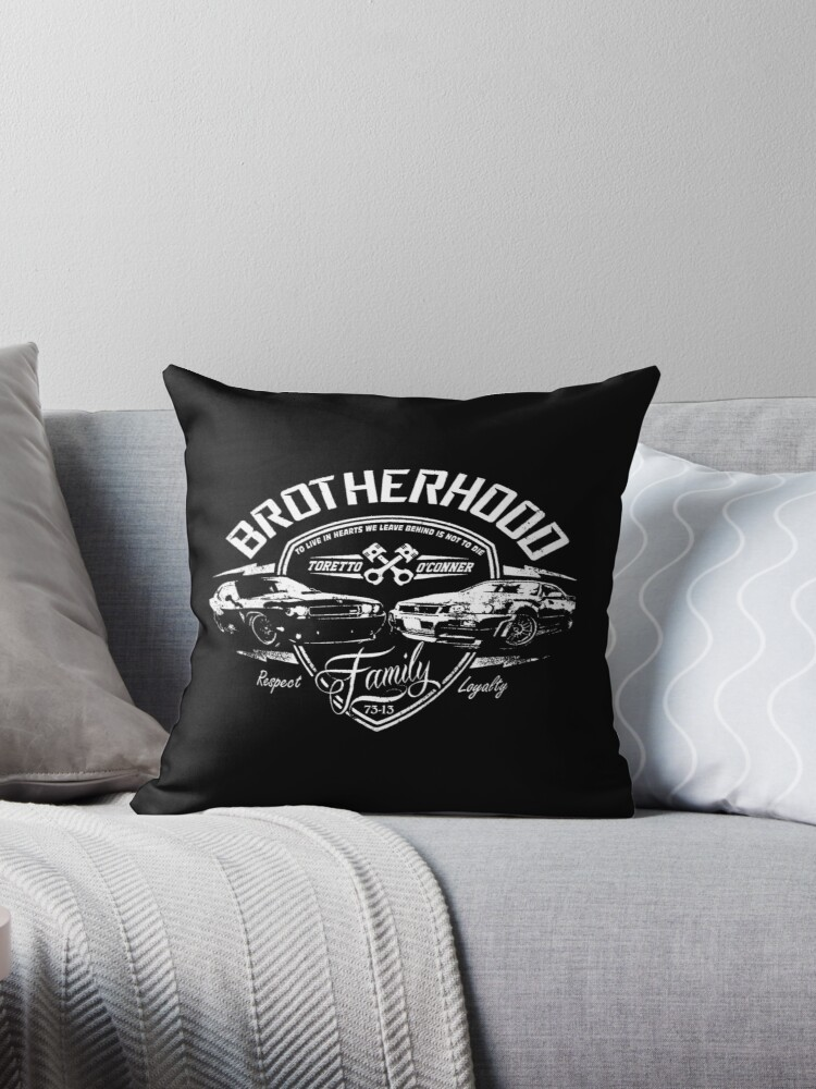 'Fast and Furious - Brotherhood' Throw Pillow by Poochikoo