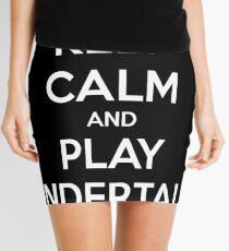 Keep calm and play undertale Mini Skirt