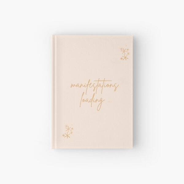 "Manifestation Journal ""Manifestation Loading"" Design for Gratitude Spiritual Zodiac Signs Journal Hardcover Journal"
