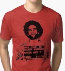 HUEY P. NEWTON-MUGSHOT Tri-blend T-Shirt