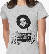 HUEY P. NEWTON-MUGSHOT Women's Fitted T-Shirt
