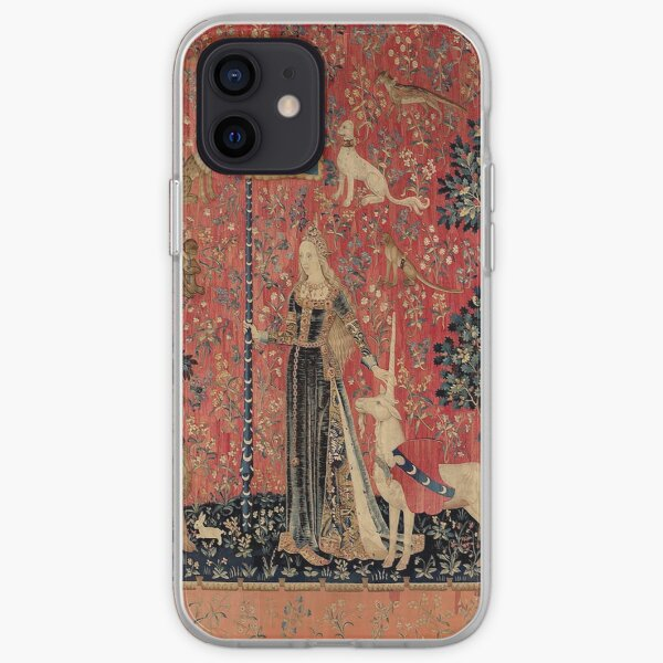 Medieval Unicorn Floral Tapestry iPhone Soft Case
