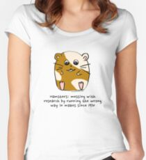 Hamster's messing up science Women's Fitted Scoop T-Shirt