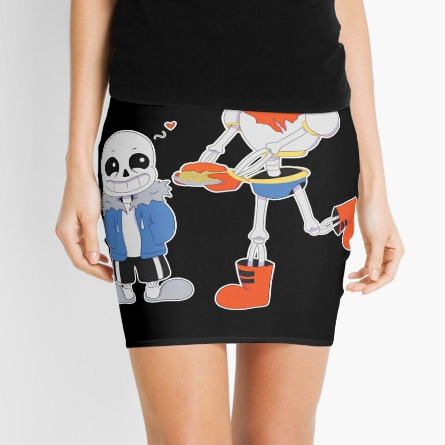 Sans and Papyrus - Undertale Mini Skirt Front